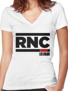 Rear Naked Choke (RNC) Women's Fitted V-Neck T-Shirt