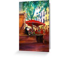 Flower Market - Aix Greeting Card