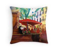 Flower Market - Aix Throw Pillow