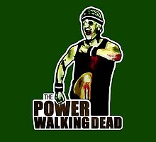 The Power Walking Dead (on Green) [ iPad / iPhone / iPod Case | Tshirt | Print ] by Damienne Bingham