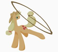 Tail Whipping Applejack Kids Tee