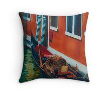 Gondola - Green & Rust Throw Pillow