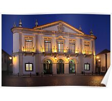 Nighttime At Faro City Hall Poster