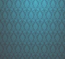 Dark and Light blue vintage glow wallpaper iphone ipad case cover by David Evans
