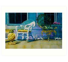 Key West Porch Art Print