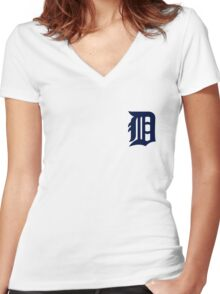 detroit tigers logo 2 Women's Fitted V-Neck T-Shirt