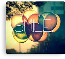 Smile Typography  Canvas Print