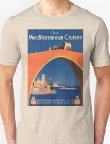 Vintage poster - Mediterranean Cruises T-Shirt