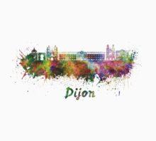 Dijon skyline in watercolor Baby Tee