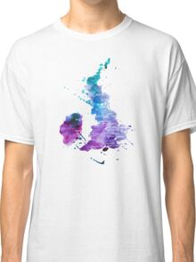 UK map in Watercolours Classic T-Shirt