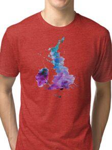UK map in Watercolours Tri-blend T-Shirt