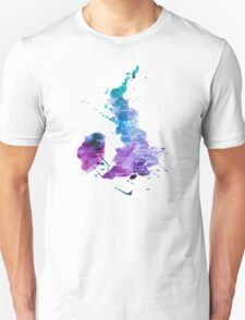UK map in Watercolours T-Shirt