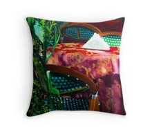 Lunch In Venice Throw Pillow