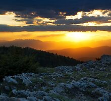 Mountainous Sunset by Gorazd Milosevski
