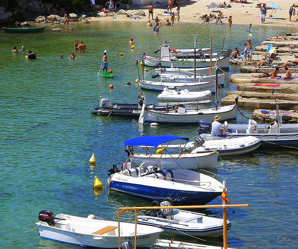 Bathing And Boating In Menorca by Fara