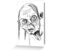 Smeagol/Gollum Greeting Card