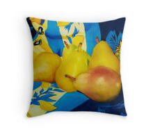 Pears In Provence Throw Pillow
