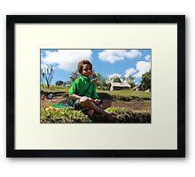 Young Village Boy Framed Print