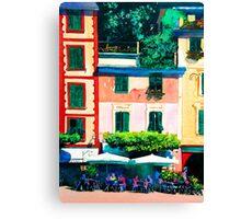 Portofino Cafe Canvas Print