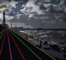 Blackpool Xmas Cards - Light Road by appfoto