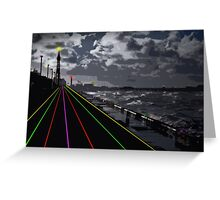 Blackpool Xmas Cards - Light Road Greeting Card