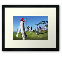 Brigade Hill memorial service Framed Print