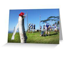 Brigade Hill memorial service Greeting Card