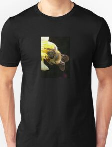 Honey Bee Pollinating Lemon Flower Close Up T-Shirt