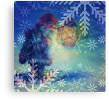 Lighting the Way for Santa Canvas Print