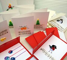Handmade Bespoke Christmas Cards (Pack of 5) by Victoriakjess
