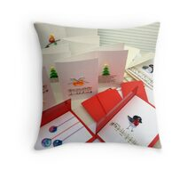 Handmade Bespoke Christmas Cards (Pack of 5) Throw Pillow