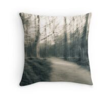 An abstract toned photograph - The Walk Throw Pillow