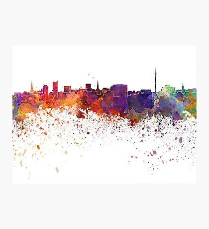 Dortmund skyline in watercolor background Photographic Print