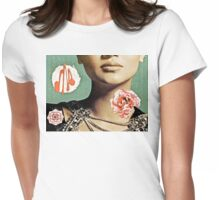 French Antique Fleur Womens Fitted T-Shirt
