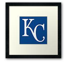 kc royals logo Framed Print