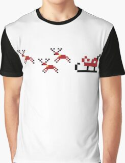 Pixel Sleigh Graphic T-Shirt