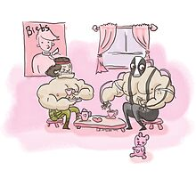 Muscly man tea-party by thesnuttch