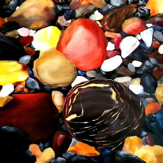 ROCK ON --pebble by Jennib