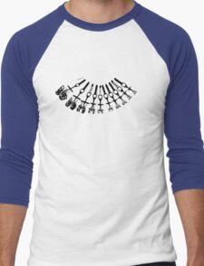 Rock Climbing Necklace Men's Baseball ¾ T-Shirt