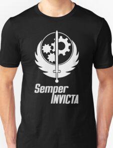Fallout 4 - Brotherhood of steel - Semper Invicta white T-Shirt