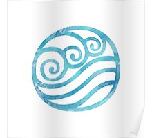Watercolor Water Tribe Symbol Poster