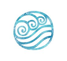 Watercolor Water Tribe Symbol Photographic Print