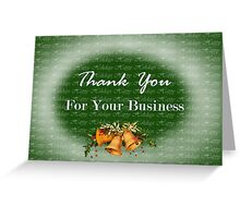Christmas card for customers from business - Christmas bells Greeting Card