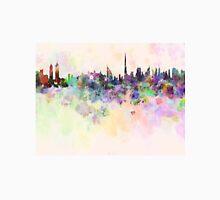 Dubai skyline in watercolor background Unisex T-Shirt