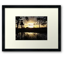 Econfina Creek Sunset, December 1, 2012 Framed Print