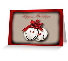 Happy holidays  Merry Christmas card  Greeting Card