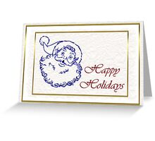 Happy holidays Christmas card with Santa Greeting Card