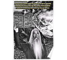 ☝ ☞ THE TEN COMMANDMENTS ☝ ☞ Poster
