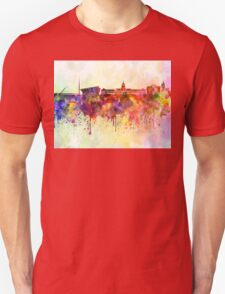 Dublin skyline in watercolor background Unisex T-Shirt