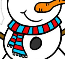 Snowman with hat Sticker